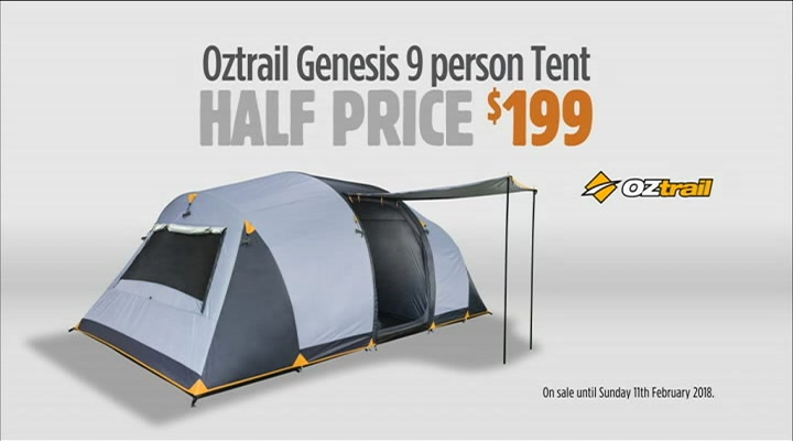 Anaconda OZtrail Genesis Tent  9 Person For $199 / Dune 4wd Nomad Chair  $59 Save $50  sc 1 st  Adgile Media - Real-time Media Analytics & Adgile Media - Real-time Media Analytics
